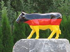 KUH KUNSTBEMALUNG FRIESISCH DEUTSCHLAND FLAGGE DE GER BRD Garten Deko Tier Figur