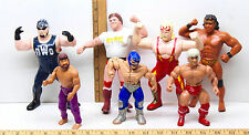 7 Wrestling Action Figures Rowdy Roddy Piper Norris Hulk Hogan Buddy Roberts WWF