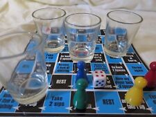 DRINKING GAME 4 Shot Glasses alcohol glass dice board game dice party xmas gift