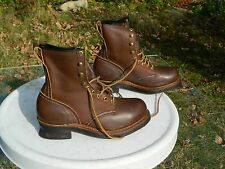 """""""Safety First"""" Steel Toe Work Boots / US Men size: 8 D / Made in USA / Deadstock"""