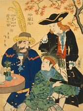 Dessin tableaux Western Hommes anglais japonais impression Japon Print lv3088