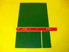 Lot of 3 Vintage Lego Base Plates Green 100% Original Authenitic LEGO