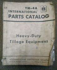International Harvester Heavy-Duty Tillage Equipment Parts Catalog TM-4A