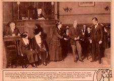 1920 ROTOGRAVURE THEATRE LIGHTNIN PRINGLE BACON MACLARNIE MORGAN COURTROOM