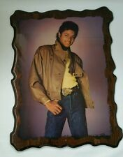 Vintage Michael Jackson King Of Pop 1983 Poster Picture Wood Plaque Glazed