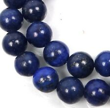 8mm natural Indigo Lapis Lazuli Round Beads 15""