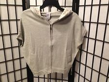 Paper Tee Size XS Grey Junior Activewear Hooded With Lace & Zip Front NEW
