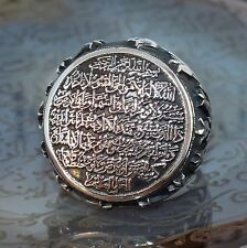 925 Sterling Silver Islamic Ring for men with Ayat al-Kursi