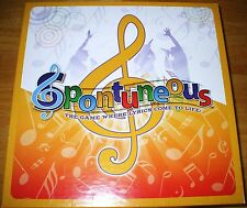 Spontuneous Family Board Game Where Lyrics Come to Life 100% COMPLETE! EXCELLENT