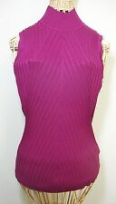 Apt 9 Mock Neck Ribbed Shell Purple Womens S