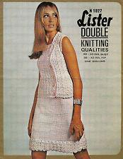 "Señoras Crochet & Tejer patrón Vintage dk Blusa & SKIRT SUIT 36-40"" Busto"