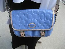 Coach F49082 Peyton Embossed Patent Leather Field Bag Handbag Crossbody