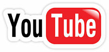 You Tube video sharing car bumper etichetta sticker 15cm x 7cm
