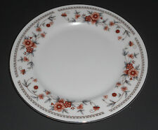 Sheffield Anniversary Bread Butter Plate White with Rust Blue Flowers