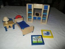 WOOD DOLL HOUSE FURNITURE ?PLAN TOYS, ?RYAN'S ROOM, ?Melissa and Doug (A)