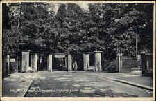 DRESDEN Sachsen Ansichtskarte Postkarte ~1930 Eingang Wald Park Weißer Hirsch