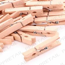 100Pc photo hanging wooden pegs 5cm mariage/photo/holder/display/bruant/clip