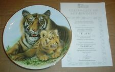 The Kensington Collection Collectors Plate TIGER