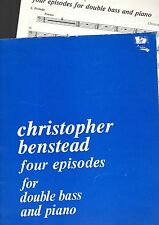 2-Book SET: FOUR EPISODES for DOUBLE BASS & PIANO (good ability needed) VGC