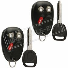 2 Replacement For 02 03 04 05 06 07 08 09 Chevrolet Trailblazer Key + Fob Remote