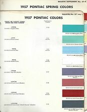 1957 PONTIAC PAINT CHIPS SPRING COLORS INCLUDED (DUPONT)