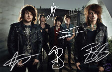 ASKING ALEXANDRIA ENTIRE GROUP AUTOGRAPH SIGNED PP PHOTO POSTER