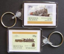 1930 Newfoundland Railway Class R2-a 2-8-2 Train Stamp Keyring (Loco 100)