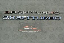 1984-87 Buick Regal Grand National 3.8 SFI Turbo Hood Emblem Black Edge 25519633