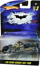 HOT WHEELS P3636 THE DARK KNIGHT BAT POD 1/64 SERIES 3 SILVER