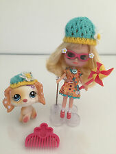 LPS LITTLEST PET SHOP AUTHENTIC BLYTHE AND DOG PINWHEELS & DAISIES #B5#1615 USED
