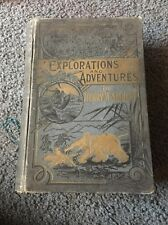 1889 EXPLORATIONS AND ADVENTURES OF STANLEY LIVINGSTONE CANNIBALS SLAVERY