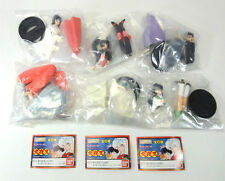 INUYASHA HG Gashapon Figure Complete Set of 6 with 3 Mini Books BANDAI JAPAN