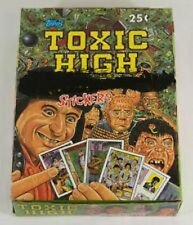 1991 TOPPS TOXIC HIGH SCHOOL STICKERS BOX (48 packs)