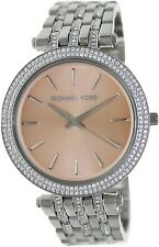 Michael Kors Women's Darci MK3218 Silver Glitter Stainless-Steel Quartz Watch