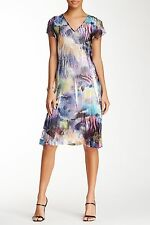 KOMAROV Cap Sleeve Crinkle Dress (size L)