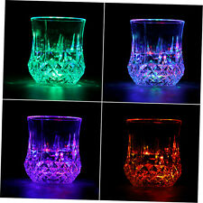 LED Flashing Glowing Water Liquid Activated Light-up Wine Glass Cup Mug PartyGH
