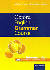 OXFORD ENGLISH GRAMMAR COURSE INTERMEDIATE w Answers & CD-ROM Michael Swan @NEW@