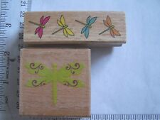 WM RUBBER STAMPS Spring Flourished Dragonfly Dragonflies Border