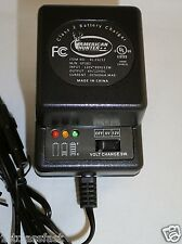 6 & 12VOLT .5A BATTERY CHARGER W LED CHARGE INDICATOR LIGHTS FOR 6V 12V CHARGING