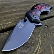 """8"""" SCORPION Tactical Rescue SPRING ASSISTED OPEN Gut Hook FOLDING POCKET KNIFE"""