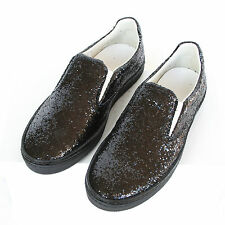 MAISON MARTIN MARGIELA 22 glitter covered slip-on trainers sneakers shoes 40 NEW