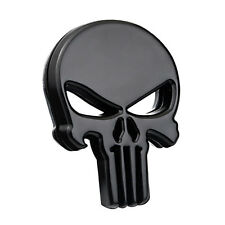 1*Motorcycle Auto SUV DIY Skull Punisher Black Metal Emblem Badge Decals Sticker