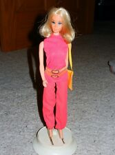 1971 VINTAGE WALK LIVELY BARBIE IN ORIGINAL OUTFIT W/ STAND