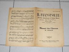Spartito IL PIANOFORTE del 1926 Menuet des Oiseaux di A. Zoboli Piano Songbook