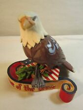 """Jim Shore Heartwood Creek American Eagle """"Home of the Brave"""" 4037682 3.5x3.5"""""""