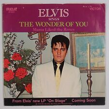 ELVIS PRESLEY: The Wonder Of You / Mama Liked the Roses USA RCA 45 w/ PS 1s/2s