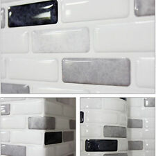 Home Décor Beauty Safe Foil On Fire Easy Kitchen 3D Tile Wallpaper Sticker Gray