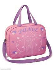 Girls Soft  Dance Shoulder Bag with Ballet Shoe Design Light Pink Roch Valley
