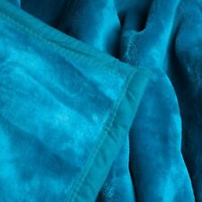 Soft Heavy Weighted Teal  Aqua Thick Plush Mink Autism Sensory Blanket 8 Pound