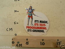 STICKER,DECAL GRUNDIG IT'S MAGIC IT'S TEXT-PROGRAMMING IT'S GRUNDIG